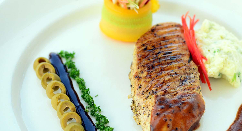 Panorama restaurant food, Palm Exotica