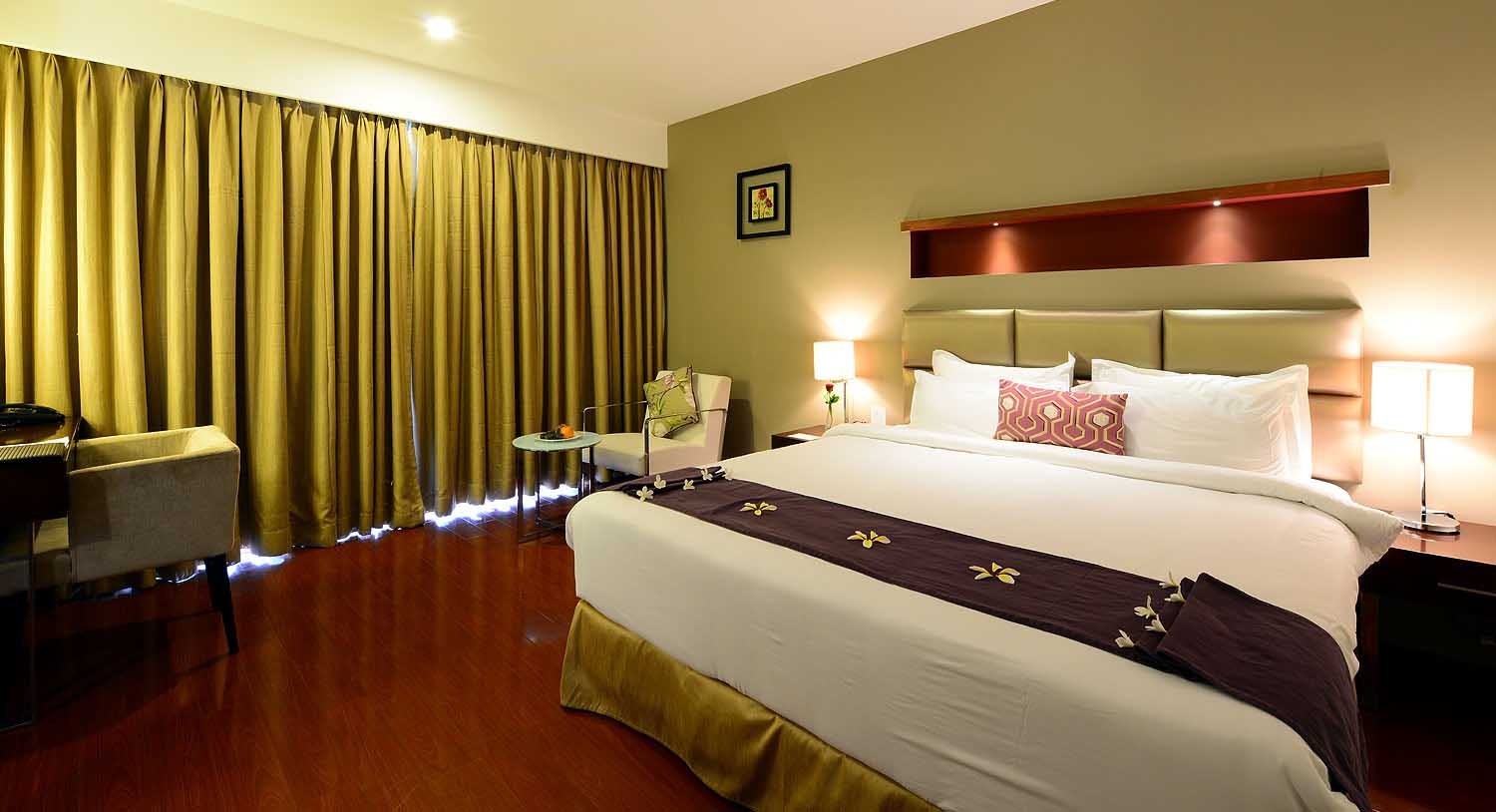 Temple Tree Villa Bedroom, Palm Exotica - Resorts in Hyderabad